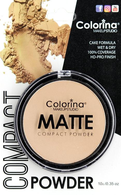 COLORINA BLISTER MATTE COMPACT POWDER #02