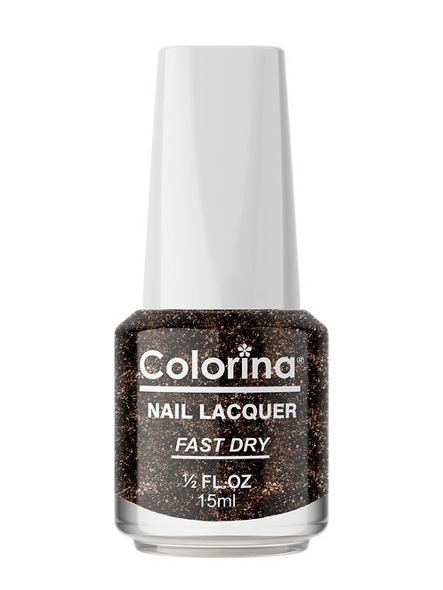 COLORINA NAIL LACQUER #107 NEW BLACK