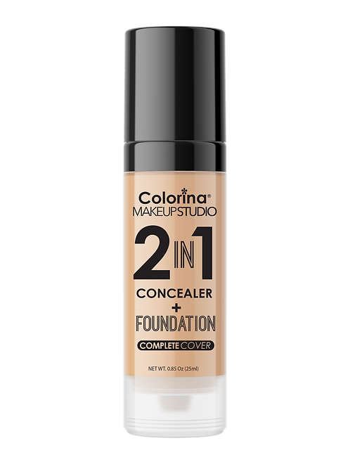 COLORINA 2in1 CONCEALER and FOUNDATION M.BEIGE #04