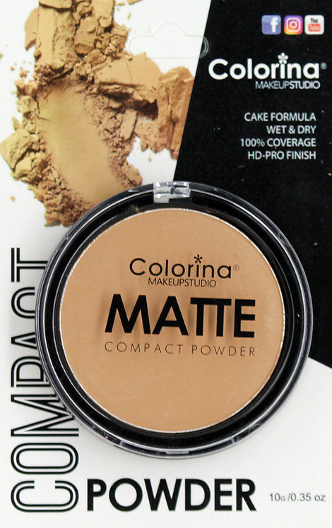COLORINA BLISTER MATTE COMPACT POWDER #08