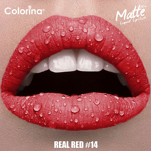COLORINA MATTE LIPGLOSS REAL RED  #14