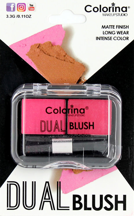 COLORINA BLISTER MATTE DUAL BLUSH #02