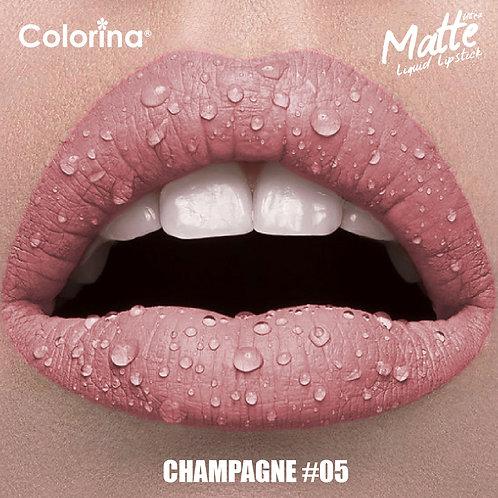 COLORINA MATTE LIPGLOSS CHAMPAGNE #05