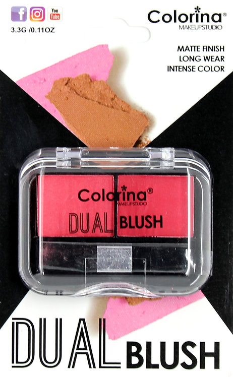 COLORINA BLISTER MATTE DUAL BLUSH #03