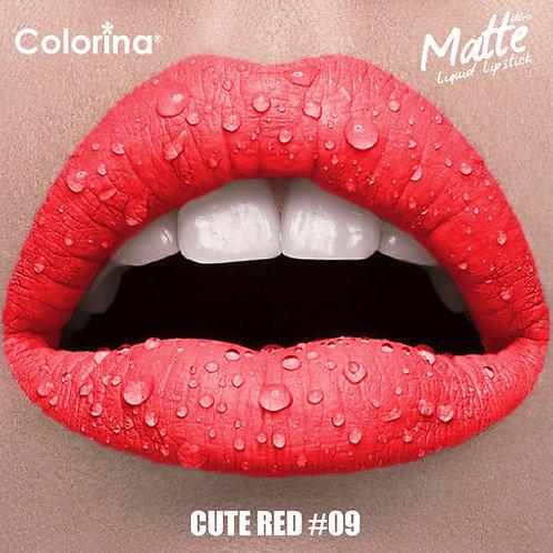COLORINA MATTE LIPGLOSS CUTE RED #09