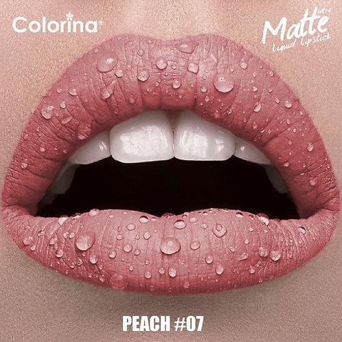 COLORINA MATTE LIPGLOSS PEACH #07