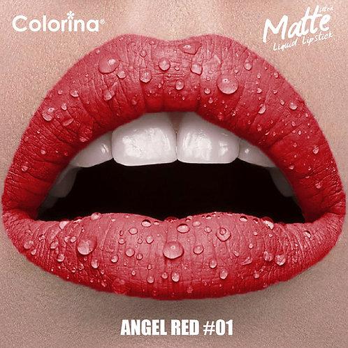 COLORINA MATTE LIPGLOSS RED #01