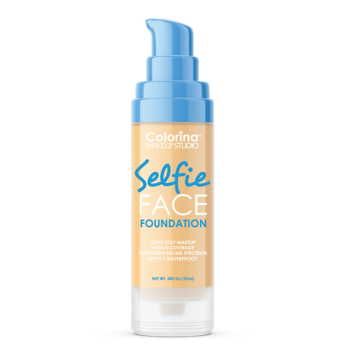 COLORINA SELFIE FACE FOUNDATION #01 YELLOW