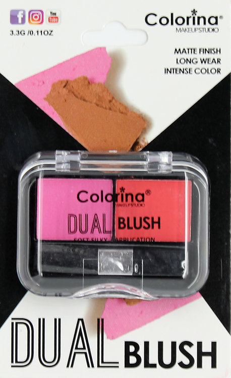 COLORINA BLISTER MATTE DUAL BLUSH #01