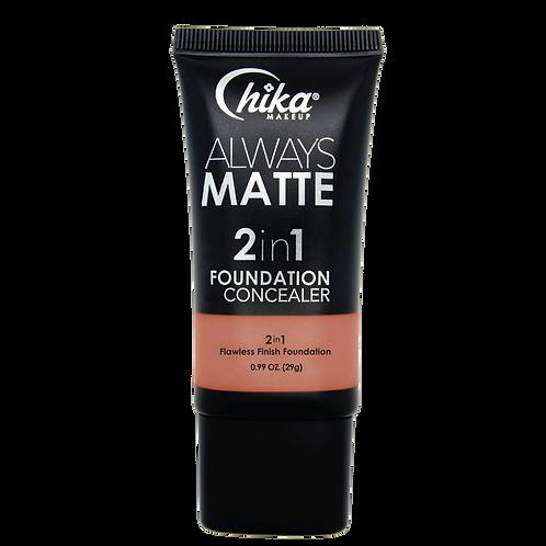 CHIKA ALWAYS MATTE 2 IN1 FOUNDATION ORANGE #04
