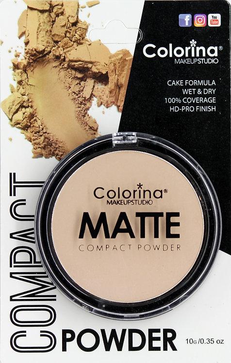COLORINA BLISTER MATTE COMPACT POWDER #01