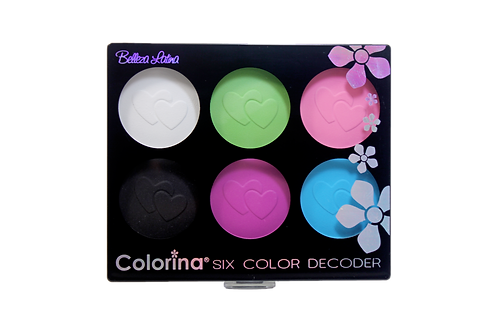 COLORINA 6 COLOR MATTE EYESHADOW PALETTE #1