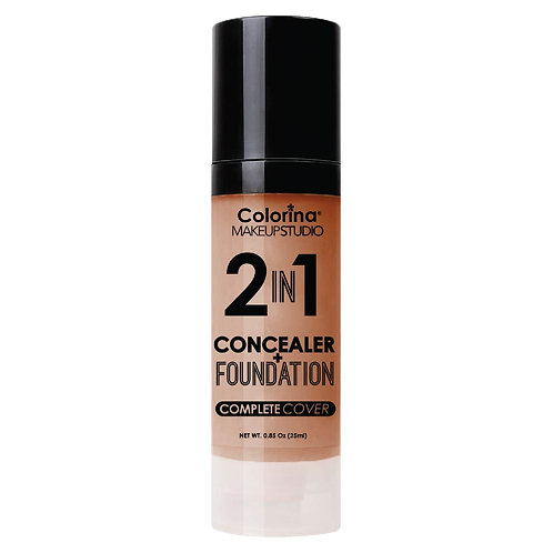 COLORINA 2in1 CONCEALER and FOUNDATION DARK BEIGE
