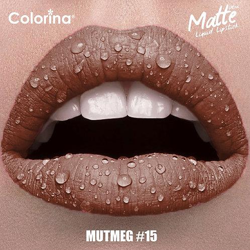COLORINA MATTE LIPGLOSS NUTMEG  #15