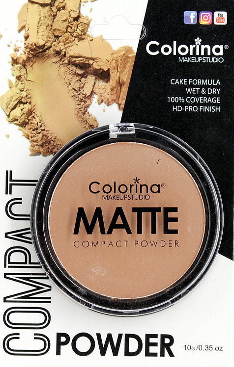 COLORINA BLISTER MATTE COMPACT POWDER #11