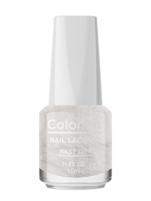 COLORINA NAIL LACQUER #101 METALLIC WHITE