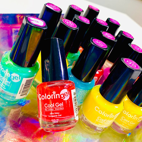 20 COLORINGEL NAIL POLISH BUNDLE