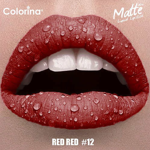 COLORINA MATTE LIPGLOSS RED RED #12