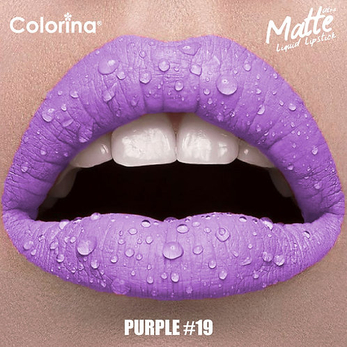 COLORINA MATTE LIPGLOSS PURPLE  #19
