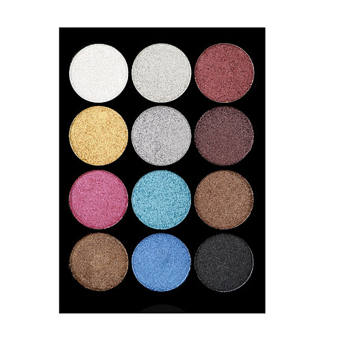 COLORINA 12 COLOR SHIMMER EYESHADOW PALETTE
