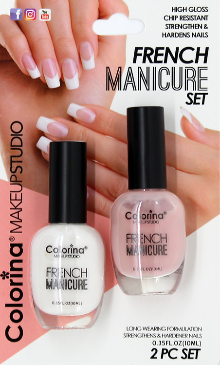 COLORINA BLISTER FRENCH MANICURE KIT #04