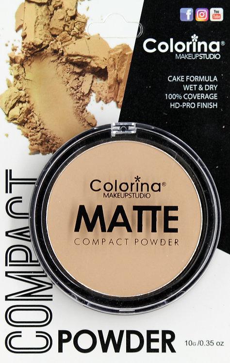 COLORINA BLISTER MATTE COMPACT POWDER #04