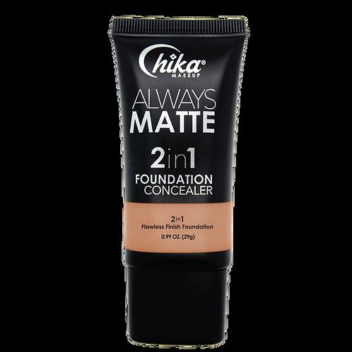 CHIKA ALWAYS MATTE 2 IN1 FOUNDATION CARAMEL SAND #10