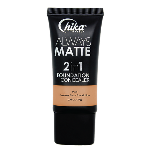 CHIKA ALWAYS MATTE 2 IN1 FOUNDATION CARAMEL IVORY #09
