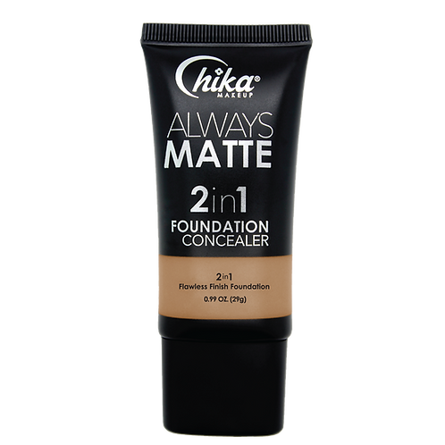 CHIKA ALWAYS MATTE 2 IN1 FOUNDATION NATURAL SABLE #14
