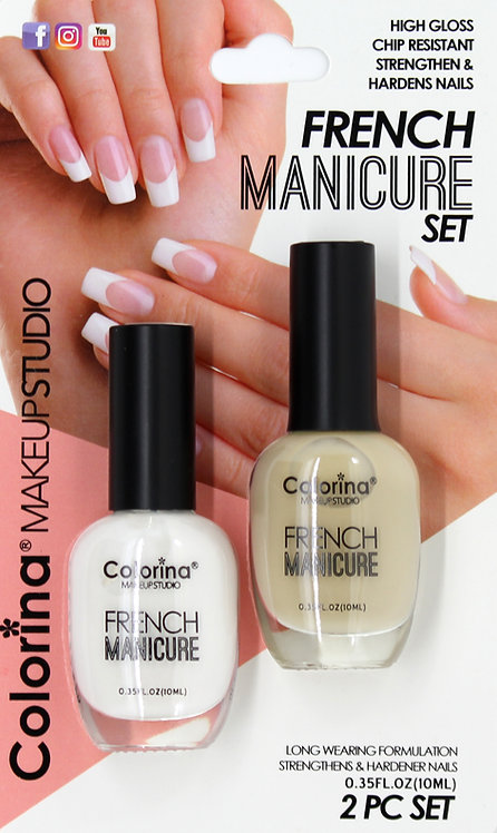 COLORINA BLISTER FRENCH MANICURE KIT #02