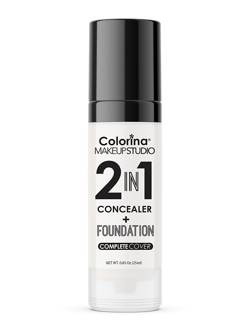 COLORINA 2in1 CONCEALER and FOUNDATION WHITE #01