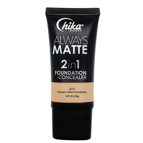 CHIKA ALWAYS MATTE 2 IN1 FOUNDATION  M. BEIGE #06