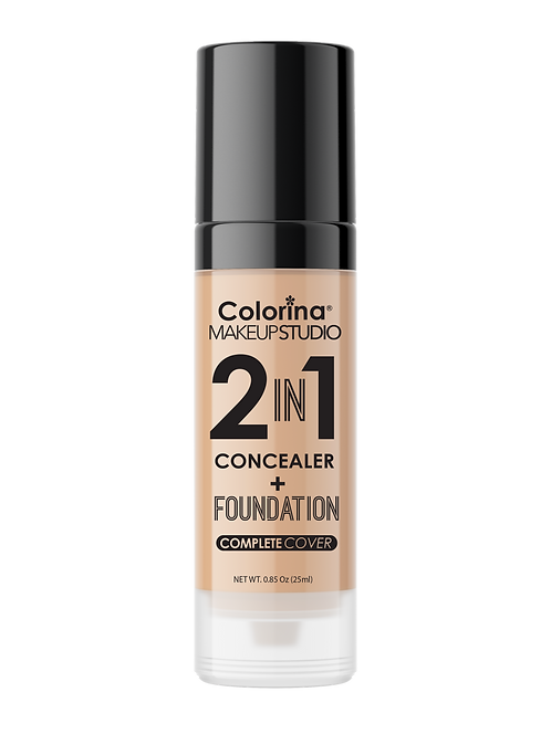 COLORINA 2in1 CONCEALER and FOUNDATION NATURAL BEIGE #07