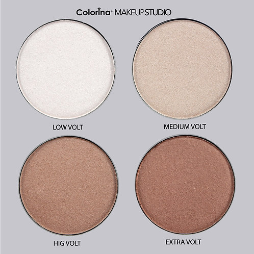 COLORINA HI-GLOW HIGHLIGHTER POWDER PALETTE DAY-LIGHT F