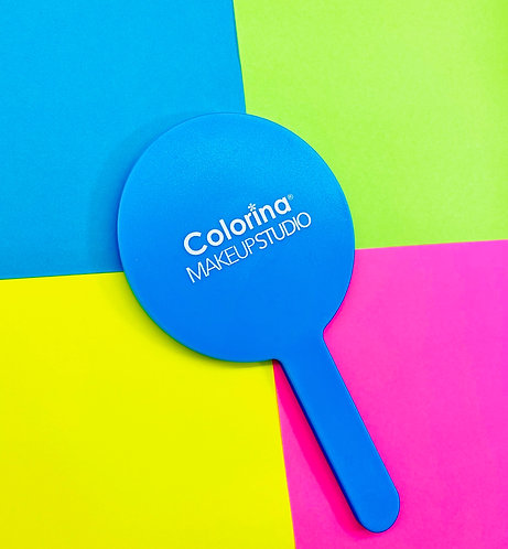 Colorina Selfie Face Blue Hand Mirror