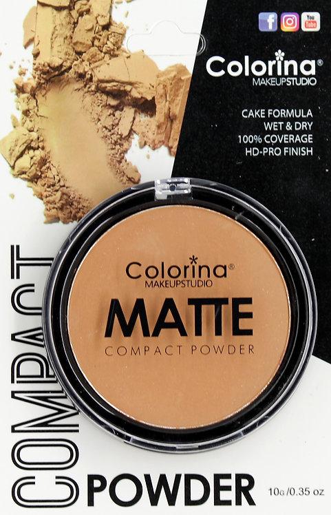 COLORINA BLISTER MATTE COMPACT POWDER #12
