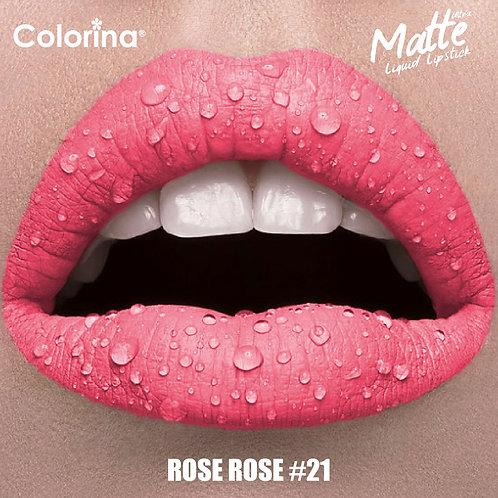 COLORINA MATTE LIPGLOSS ROSE ROSE #21