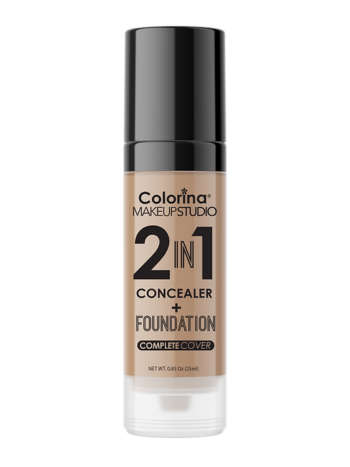 COLORINA 2in1 CONCEALER and FOUNDATION HONEY #08