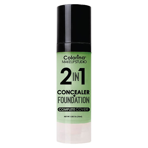 COLORINA 2in1 CONCEALER and FOUNDATION TEAL