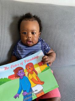Such a cute little reader!