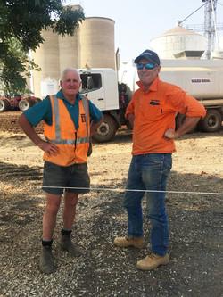Frank Stewart & Mark from Wards Earthmoving