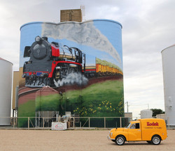 The Train, Railway, Wheat Crop & Wedge Tail Eagle