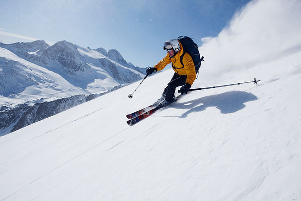 Guy Skiing, Pyrenees, snow sport
