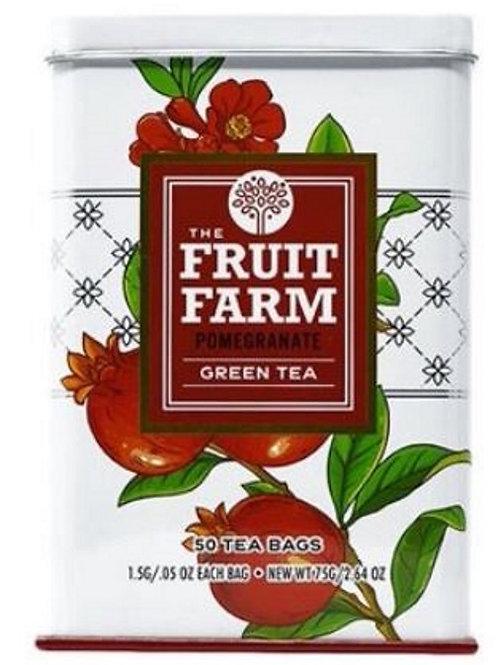 The Fruit Farm Pomegranate Green Tea - 50 Tea Bags