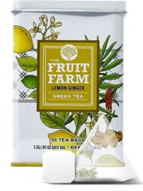 The Fruit Farm Lemon Ginger Green Tea - 50 Tea Bags