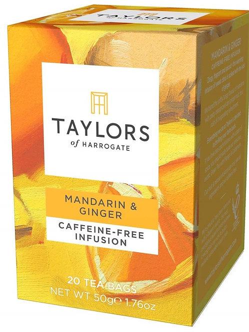 Taylor's of Harrogate Mandarin & Ginger Caffeine-Free Infusion - 20 Teabags