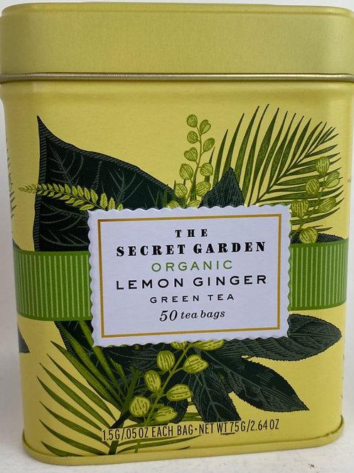 The Secret Garden Organic Lemon Ginger Green Tea - 50 Tea Bags