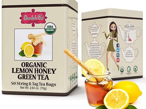 Brew La La Organic Lemon Honey Tea - 50 Tea Bags