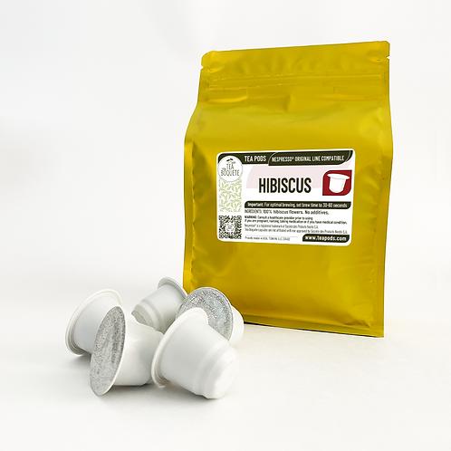 Hibiscus Tea Pods for Nespresso OriginalLine Compatible Capsules by Tea Boquete