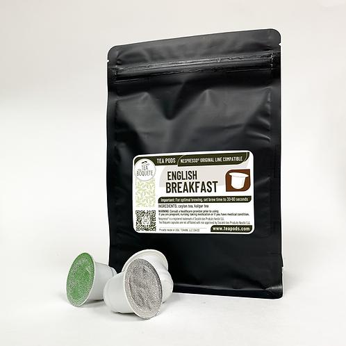 English Breakfast Tea Nespresso OriginalLine Compatible Capsules by Tea Boquete
